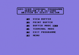 GOSTERM C64 Terminal Program