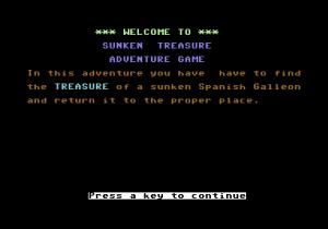 Sunken Treasure Text Adventure C64